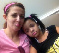 In the waiting room...my little princess is nervous