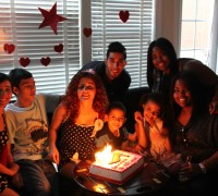 Birthday picture with the family