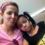 In the waiting room...my little princess is nervous.