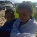 My babies at the beach