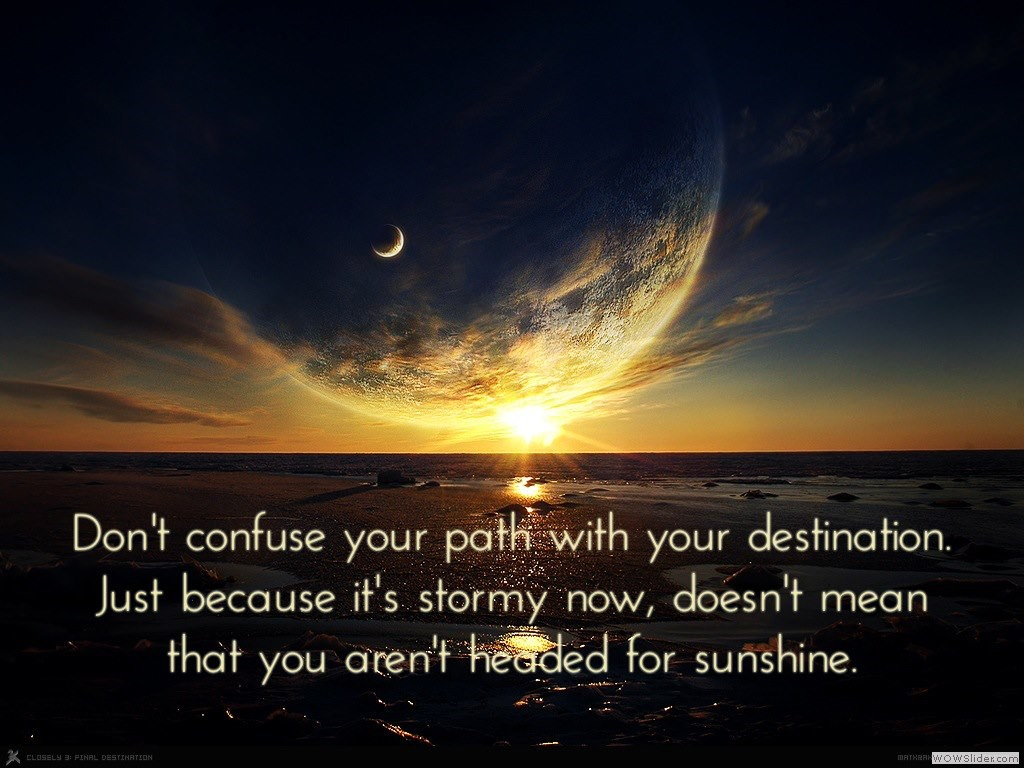 Path vs. Destination